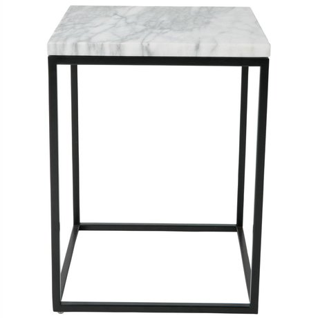 Zuiver Table d'appoint Marbre Marbre Power 32x32x43cm