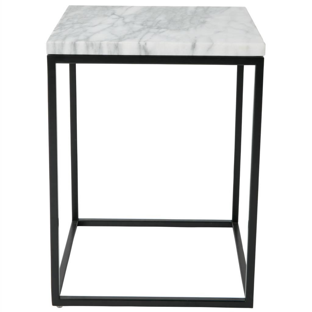 Zuiver Beistelltisch Marble Power aus Marmor 32 x 32 x 43 cm ...
