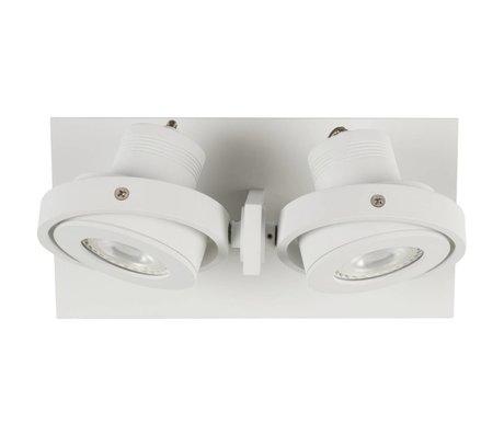 Zuiver aluminium lampe-2 LED LUCI mur 23x11,5x12,8cm blanc