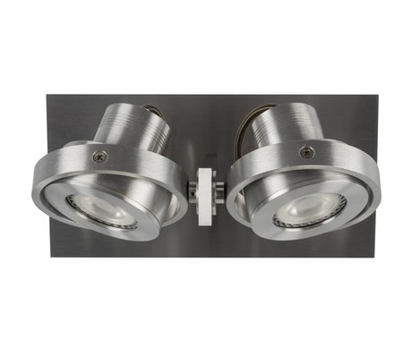 Zuiver Wandlmap LUCI-2 LED aluminum gray 23x11,5x12,8cm