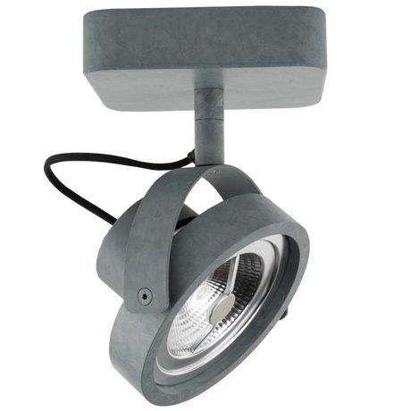 Zuiver Wandstrahler DICE-1 LED Stahl grau 12 x 12 x 3 cm