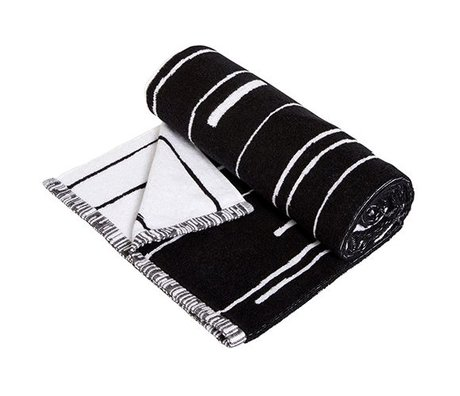 OYOY Handtuch Puun große schwarze und weiße Baumwolle 70x140cm