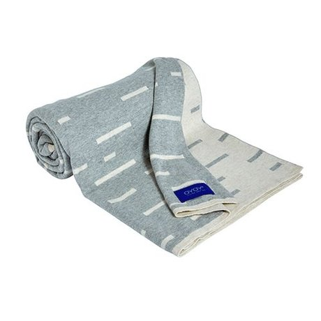 OYOY Smilla grigio chiaro plaid cotone 120x150cm