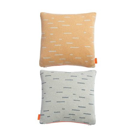 OYOY Pillow Smilla orange light gray cotton 40x40cm