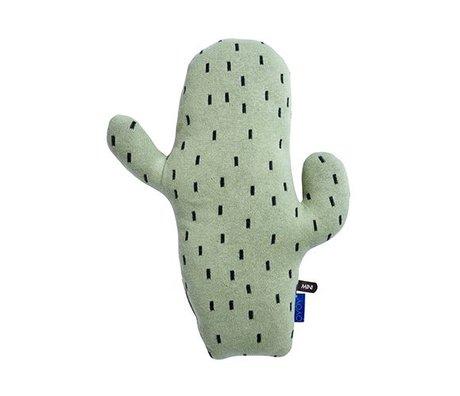 OYOY Cactus coussin vert coton 45x28,50x9cm noir