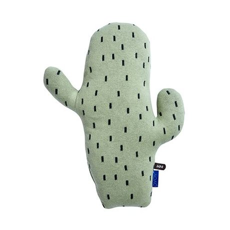 OYOY Cactus cushion green black cotton 45x28,50x9cm