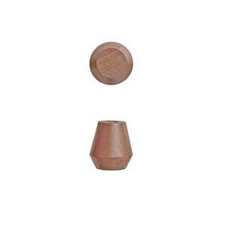 OYOY Parenthèses Saki Jeu de deux caramel Ø2,3x2,5cm de bois brun