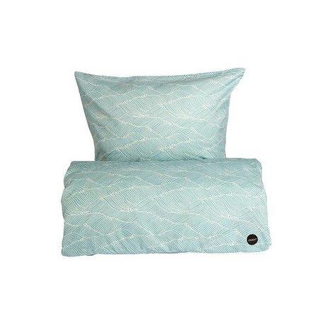 OYOY 70x100cm azul de algodón edredón poipoi bebé