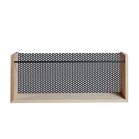OYOY Revista -Moku madera marrón natural 13x20x50cm de metal negro