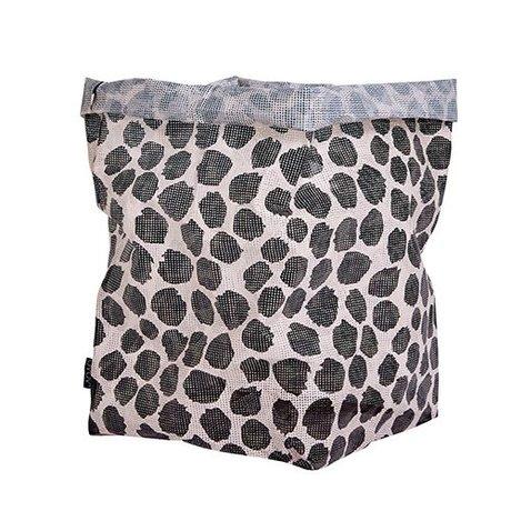 OYOY Storage Basket Hokuspokus Pfütze schwarz und weiß Polyester 30x30x54cm
