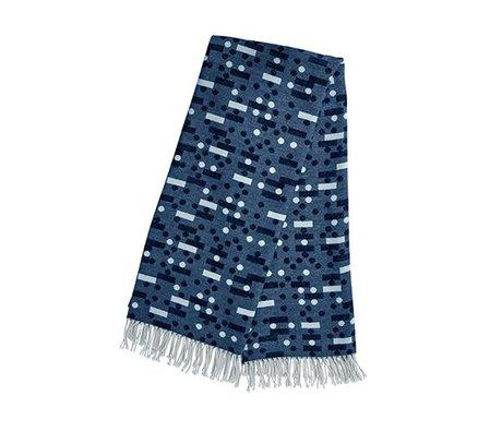 OYOY Domino koyu mavi ekose pamuklu 127x170cm