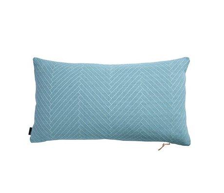 OYOY oreillers moelleux Herringbone coton bleu 40x70cm