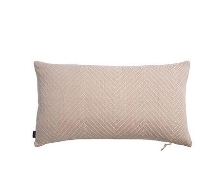 OYOY Cushion Herringbone Fluffy pink cotton 40x70cm