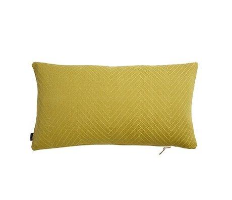 OYOY Cuscino a spina di pesce Fluffy 40x70cm di cotone giallo