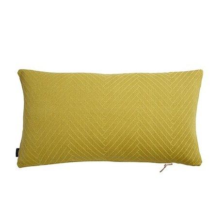 OYOY Pude Sildeben Fluffy gul bomuld 40x70cm