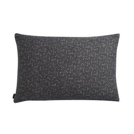 OYOY Almohada Tenji gris y 40x60cm lana blanca