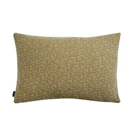 OYOY Oreiller Tenji jaune et blanc laine 40x60cm