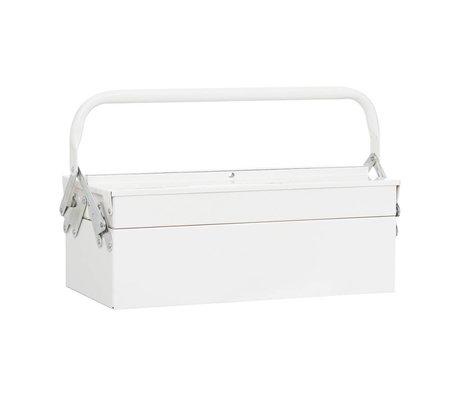 Housedoctor Cajas de almacenamiento de herramientas 42x20xh11,5cm metal blanco