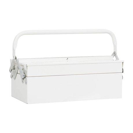 Housedoctor Boîtes de rangement TOOL 42x20xh11,5cm en métal blanc