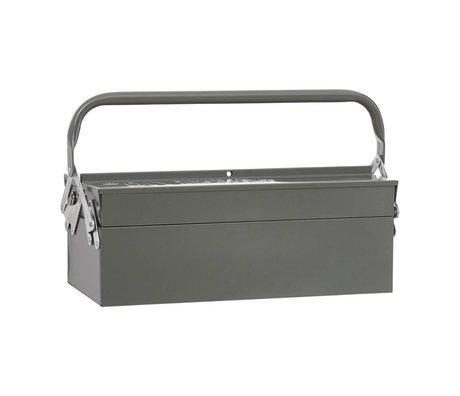Housedoctor Aufbewahrungsboxen TOOL grün Metall 42x20xh11,5cm
