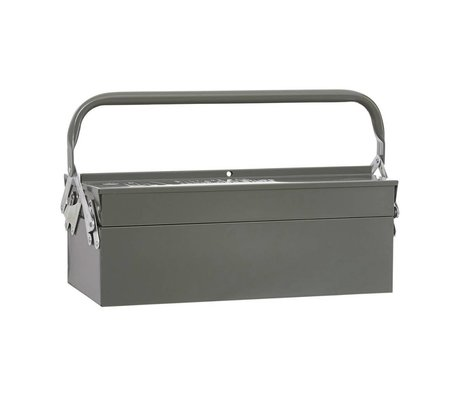 Housedoctor Cajas de almacenamiento de herramientas de metal verde 42x20xh11,5cm