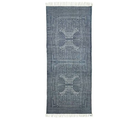 Housedoctor Tappeto Iza grigio 90x200cm di cotone bianco