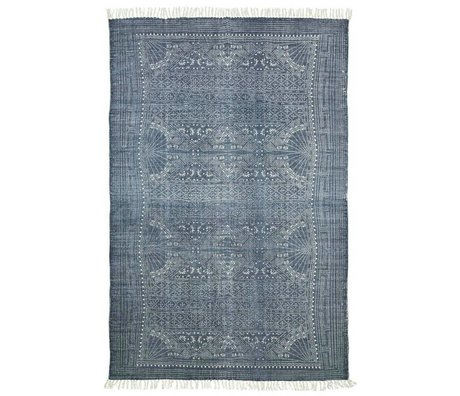 Housedoctor Tappeto Iza grigio 160x230cm cotone bianco