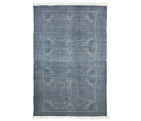 Housedoctor Teppich Iza grau weiße Baumwolle 160x230cm