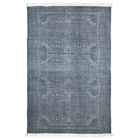 Housedoctor Tapis Iza gris coton blanc 160x230cm