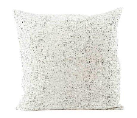 Housedoctor Kissenbezug Spots in weißem Leinen 50x50cm