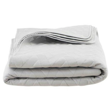 Housedoctor Grå bomuld sengetæppe 240x240cm Leh