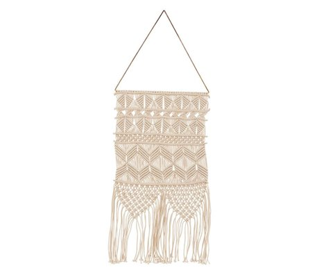 Housedoctor Artesian metal tapestry cream cotton 32x60cm