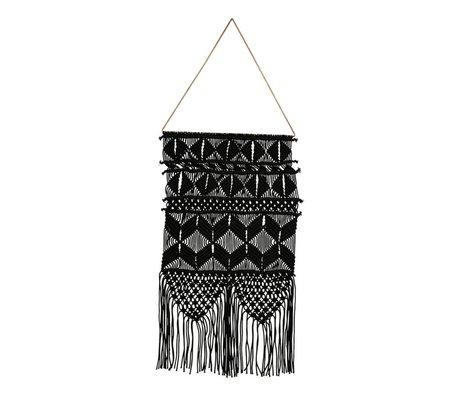 Housedoctor Artezyen siyah metalik pamuk 32x60cm Tapestry
