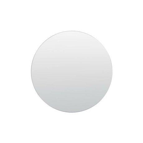 Housedoctor Vægge spejl sølv hvidt glas Ø80cm