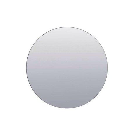 Housedoctor Duvarlar gümüş cam Ø80cm ayna