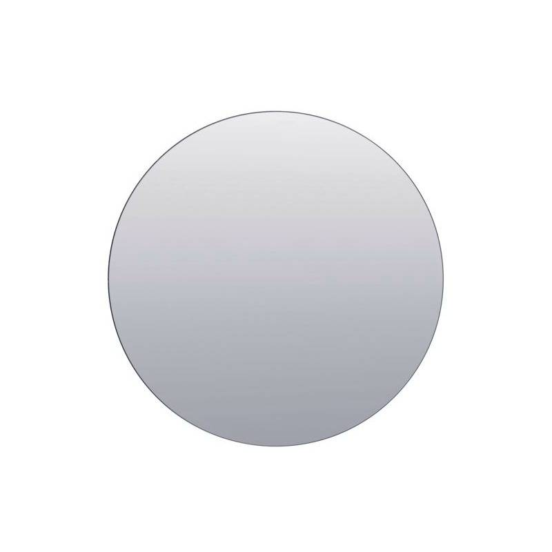 Housedoctor paredes de espejo de cristal de plata 80cm for Espejo gris plata