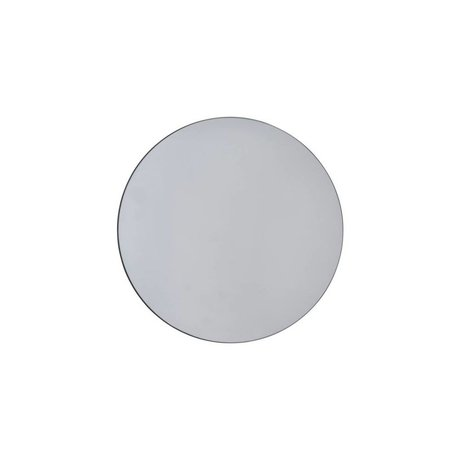 Housedoctor murs gris miroir de Ø50cm en verre
