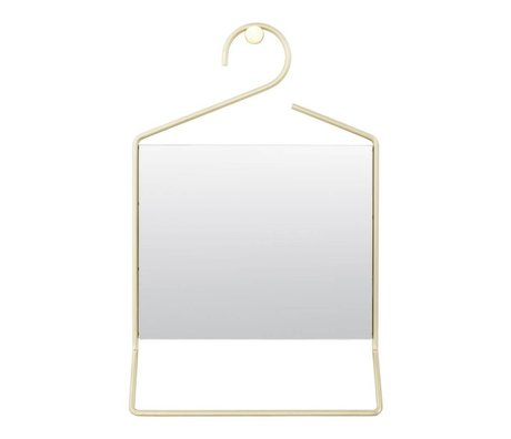 Housedoctor Hang mirror gold metal glass 50x32x7cm