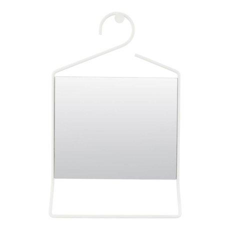 Housedoctor Asmak beyaz metal ayna cam 50x32x7cm