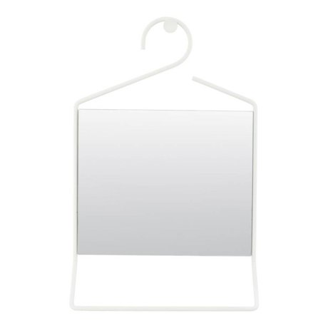 Housedoctor Hang white metal mirror glass 50x32x7cm
