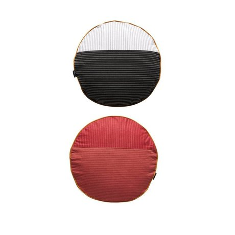 OYOY Oreiller PI-verso multicolore coton Ø38cm rouge