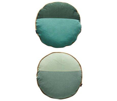 OYOY Yastık PI-taraflı renkli gri pamuk Ø48cm