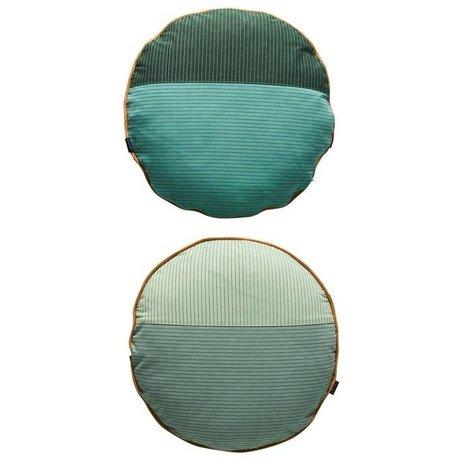 OYOY Kissen PI-seitig mehrfarbig grau Baumwolle Ø48cm