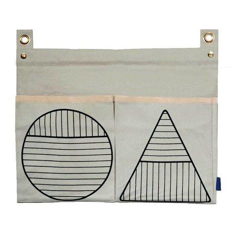 OYOY Repo coton blanc sac de rangement 60x43cm