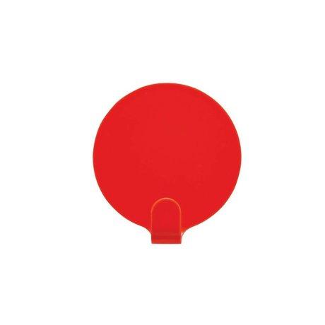 OYOY Ping soportes de juego de dos de acero rojo Ø5cm