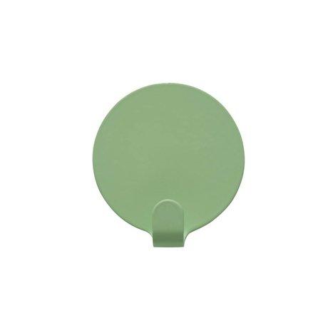 OYOY Ping clips Set of two mint green Steel Ø5cm