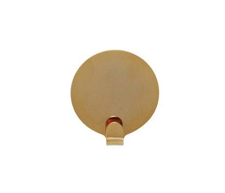 OYOY Ping soportes de acero conjunto de dos de oro Ø5cm
