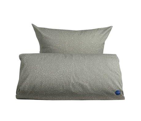 OYOY Edredón adultos estrellado extralargo 140x220cm de algodón gris y blanco