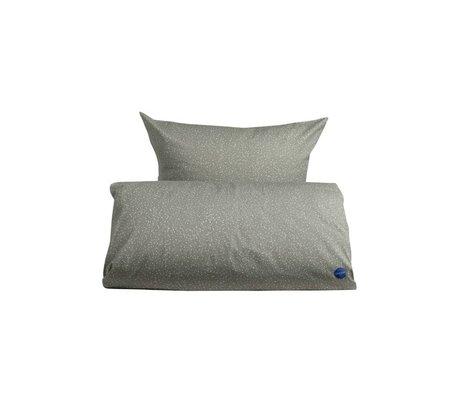OYOY Duvet estrellado secundaria gris 100x140cm algodón blanco