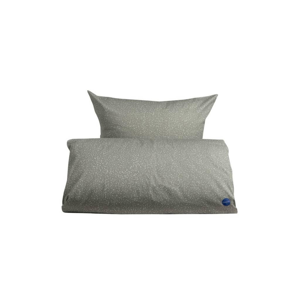 oyoy duvet starry baby grau wei e baumwolle 70x100cm. Black Bedroom Furniture Sets. Home Design Ideas